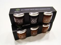 Geodi 85% marmalades and jams packaging-3 pack box