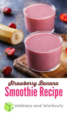 Strawberry Banana Smoothie Recipe, sweetened with honey. Click through to get this delicious, dairy free coconut milk smoothie recipe! Coconut Milk Smoothie, Smoothie Recipes For Kids, Breakfast Smoothie Recipes, Strawberry Banana Smoothie, Yummy Smoothies, Strawberry Recipes, Milk Smoothies, Banana Breakfast, Smoothie Diet