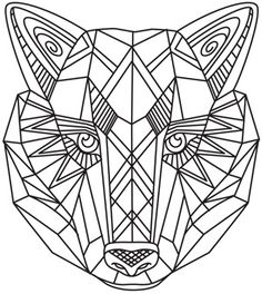 Wild Wolf | Urban Threads: Unique and Awesome Embroidery Designs