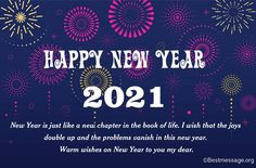 New Year Wishes Messages 2021, Happy New Year with New Year Wishes for lover, friends, family, sweetheart #HappyNewyear #HappyNewyearWishes #NewYear2021 #NewYearMessages Happy New Year Images, Happy New Year Wishes, New Year Greetings, Happy New Year 2020, New Year Greeting Messages, New Year Message, Message Quotes, Book Of Life, Friends Family