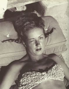 Danielle Darrieux à Eden Roc...by J.Henri Lartigue