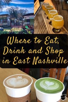 East Nashville has that great hipster vibe and is buzzing with places to explore. It's more residential with tons of local shops, restaurants, street art, breweries, etc. There's a lot of history here too and a more laid-back lifestyle than what is typically thought of when people think Nashville. Our kind of place! So we're giving you our best recommendations for exploring East Nashville in just one day. East Nashville Restaurants, Nashville Shopping, Nashville Vacation, Tennessee Vacation, Nashville Tennessee, Nashville Breweries, Visit Nashville, One Day Tour, Travel Tours