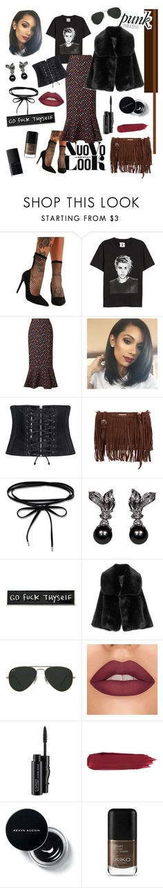 """""""Untitled #75"""" by haylee0110 on Polyvore featuring Liliana, H&M, Saloni, McQ by Alexander McQueen, Rebecca Minkoff, Thomas Sabo, RIPNDIP, Ray-Ban, MAC Cosmetics and NARS Cosmetics"""