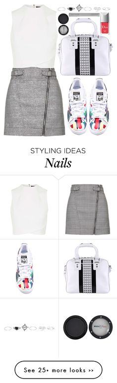 """""""#247"""" by preet111 on Polyvore featuring Topshop, adidas, Diesel, Wet Seal, Manic Panic, Christian Dior and Laura Mercier"""