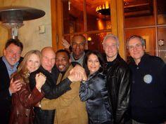 Rick Berman and the Star Trek: TNG gang in 2013: Jonathan Frakes, Gates McFadden, Patrick Stewart, LeVar Burton, Michael Dorn, Marina Sirtis, and Brent Spiner.