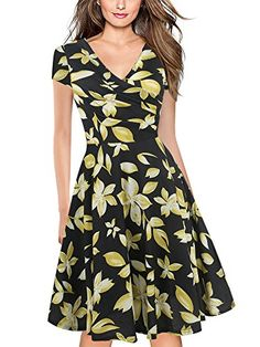 This is such a cute dress, I really like the black and yellow together. Affiliate