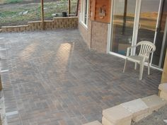 paver patio under deck. was just thinking about doing something ... - Do It Yourself Patio Ideas