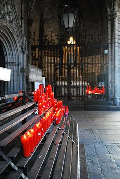 """""""Pray for Barcelona Spain 🇪🇸"""" Barcelona Architecture, Places In Spain, Church Candles, Gothic Cathedral, Saints And Sinners, Candle In The Wind, Old Churches, Spain And Portugal, Sacred Art"""