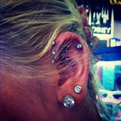 My ear is starting to look like a pinterest project. Triple helix <3