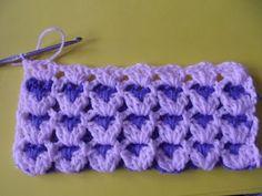 Cute stitch, crochet baby blanket.