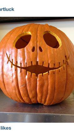 Pumpkin carving. Jack ~ The Nightmare Before Christmas