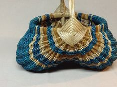 Hand Woven Egg Basket with Twisted Reed Handle by DiannesBaskets, $35.00