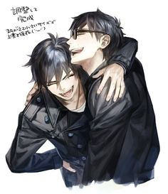 I love this picture. This is how siblings should be. Yay for Rin and Yukio for having a good brotherly relationship! :D