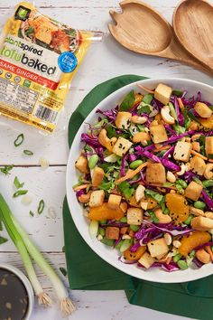 Level up your salad game with our ready-to-eat TofuBaked! Healthy Juice Recipes, Tasty Vegetarian Recipes, Healthy Juices, Tofu Recipes, Vegan Meals, Vegan Picnic, Organic Recipes, Ethnic Recipes, Fairy Jars