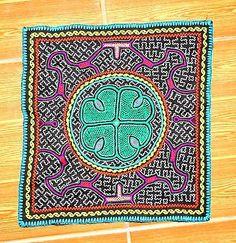 Original-Shipibo-Arte-Indio-Bordados-A-Mano-Ayahuasca-Flor-chaman-Textil