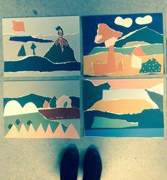 Collage landskaber