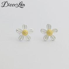 2017 New Arrivals 925 Sterling Silver Fresh Flower Earrings For Women Girls Gift Fashion sterling-silver-jewelry