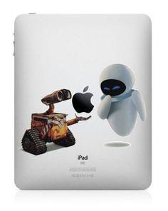 WALL E -- iPad Decal iPad Sticker Art Cover Skin for Apple iPad1 iPad2 iPad3/The new iPad Macbook Pro Macbook Air