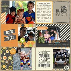 Awesome Project Life style page for Halloween by @Kellie Turner | Funkin Pumpkin Kit from Peppermint Creative