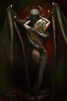 """Lord of The Darkness"" by ~Vitaly-Sokol on deviantART. Inspired by Boris Vallejo's ""Vampire's Kiss"" (1979)."