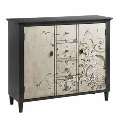 "Stein World Graham 4 Drawer 2 Door Cabinet--$629 at Wayfair  Overall: 36"" H x 42"" W x 14"" D Is it too big for the space"