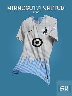 Tremendous - 48 Unique Nike MLS Concept Kits By Santi Kits - Footy Headlines Sport Shirt Design, Sports Jersey Design, Sport T Shirt, Retro Football, Football Kits, Soccer Shirts, Team Shirts, Volleyball Kit, Football Shirt Designs