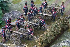 Schieramento di artiglieria francese