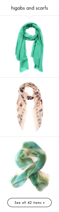 """higabs and scarfs"" by a-proud-palestinian ❤ liked on Polyvore featuring accessories, scarves, cashmere shawl, etro, green shawl, green scarves, etro scarves, pink, alexander mcqueen scarves and braided scarves"