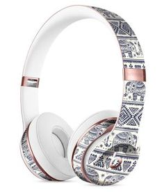 Sacred Elephant Pattern Full-Body Skin Kit for the Beats by Dre Solo 3 Wireless Headphones