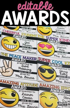 I love these editable student awards. So easy to edit and print. Plus, the kids will love the emoji theme awards! | emoji awards | classroom management | teaching tips | editable exit tickets | emoji printables | reading awards | class awards | printable reward tickets | learning goals | student motivation elementary