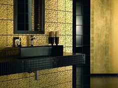 bathroom tile design patterns with yellow mozaic style httplanewstalkcom - Bathroom Tile Designs Patterns