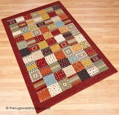 Patchwork Rugs, Patchwork Patterns, Main Colors, Colours, Modern Area Rugs, Red Rugs, Rug Making, Colorful Rugs, Weaving