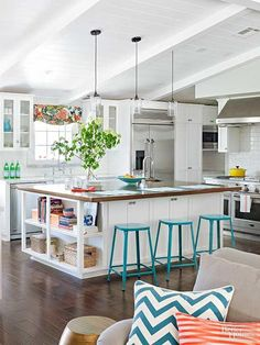"""A family of five discover their """"everything happens here"""" place by taking down the walls that closed off the kitchen, living room, and dining room."""