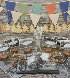 Beautiful woodland theme party decorations.