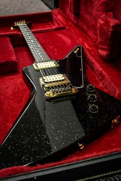 1980 Gibson Explorer E/2 in Black Sparkle