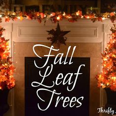 Thrifty Artsy Girl: Easy DIY Fall Leaves Potted Topiary Tree from a Tomato Cage Diy Spray Paint, Diy Sprays, Christmas Tree In Urn, Fall Leaf Garland, Fall Decor, Door Makeover, Slab Door, Decor Project, Painting Trim