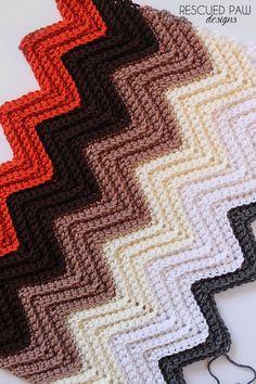 Chevron Single Crochet Back Loop Tutorial - Rescued Paw Designs