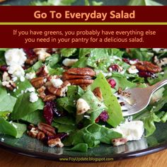 Foy Update: My Go To Everyday Salad with Pecans, Dried Cranber...