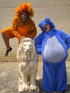 Baloo and King Louie HA!  Kinda scary!! :)
