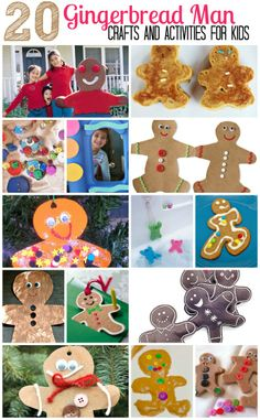 20 Easy Gingerbread Crafts and Activities for Kids. I love these! For related pins follow http://www.pinterest.com/angelajuvic/christmas/