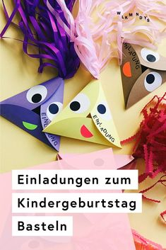 DIY Einladungen für Kindergeburtstag selbst basteln Do you want to make invitations to children's birthday parties quickly and easily? These cute invitations are really easypeasy homemade - in tod Birthday Diy, Birthday Parties, Birthday Canvas, Diy Home Crafts, Rock Crafts, Homemade Crafts, Garden Crafts, Diy Photo, Birthday Balloons