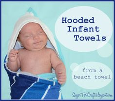 Sugar Tart Crafts: Hooded Infant Towels in 5 easy steps for 1 version) . Need to make some Aggie ones for my friends. Sewing Kids Clothes, Sewing For Kids, Baby Sewing Projects, Sewing Ideas, Sewing Tips, Sewing Hacks, Sewing Tutorials, Sewing Crafts, Hooded Towel Tutorial