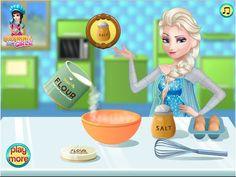 Elsa Cooking Pound Cake - Disney Frozen Games