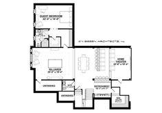 Country Style House Plan - 4 Beds 4.50 Baths 5274 Sq/Ft Plan #928-12 Floor Plan - Lower Floor Plan - Houseplans.com