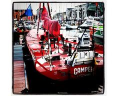Camper boat at the Volvo Ocean Race Galway