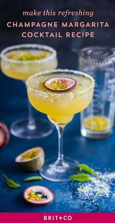Sip on this Champagne Margarita Cocktail recipe for a relaxing afternoon.