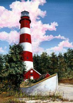 Assateague Lighthouse - Chincoteague National Wildlife Refuge, Assateague Island,#Virginia