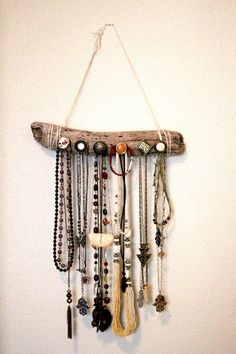 Driftwood Jewelry Organizer by VagabondGoat on Etsy, $35.00