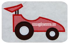 Simple Race Car Applique Applique Templates, Applique Patterns, Applique Designs, Embroidery Designs, Patchwork Quilting, Applique Quilts, Embroidery Applique, Applique Momma, Baby Quilt Patterns