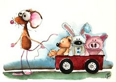 Mouse takes the gang for a lovely stroll...